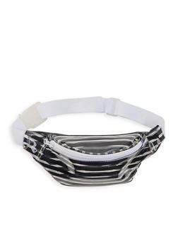 Clear Striped Fanny Pack - 1126067449000