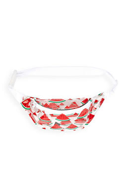 Clear Watermelon Print Fanny Pack - 1126067449001
