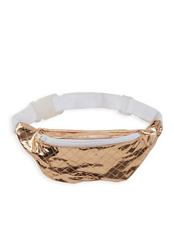 Quilted Metallic Fanny Pack - 1126067449006