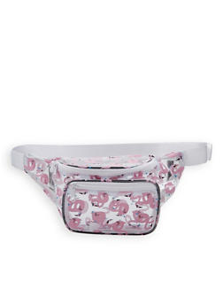 Flamingo Print Clear Fanny Pack - 1126067449011
