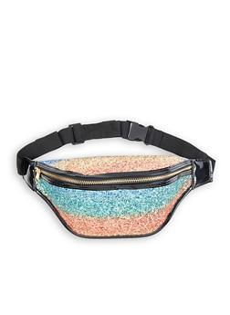 Glitter Contrast Trim Fanny Pack - 1126067449018