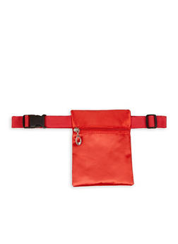 Square Satin Belt Bag - 1126067449033