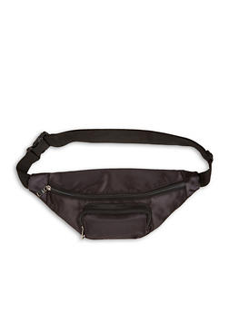 Satin Double Zip Fanny Pack - 1126067449034
