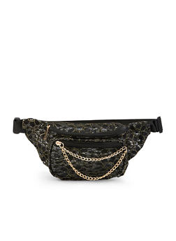 Chain Zip Lace Fanny Pack - 1126067449036