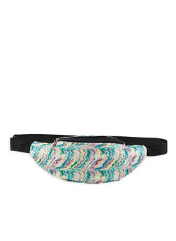Glitter Abstract Print Fanny Pack - 1126067449060