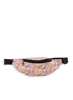 Glitter Abstract Print Fanny Pack - Multicolor - 1126067449060