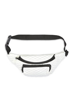 Quilted Double Zip Fanny Pack - 1126067449073