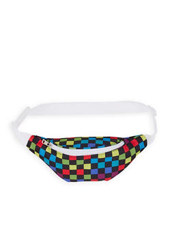 Multi Color Checkered Fanny Pack - 1126067449082
