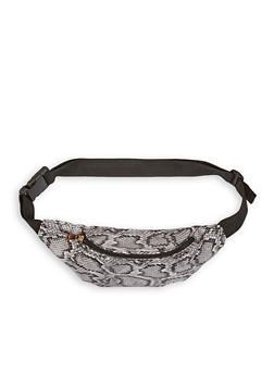 Snake Print Faux Leather Fanny Pack - 1126067449084