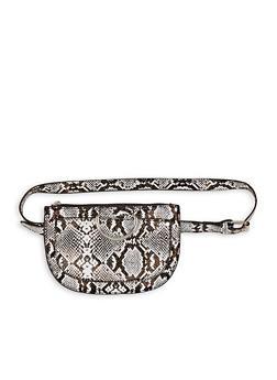 Snake Print Belt Bag - 1126067449089