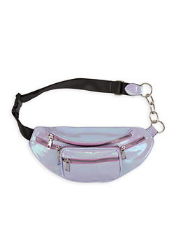 Iridescent Textured Faux Leather Fanny Pack - 1126067449094