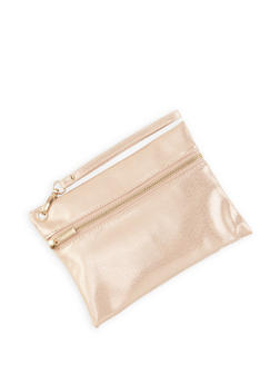 Textured Faux Leather Wristlet - 1126067449117
