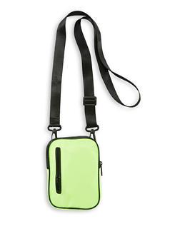 Nylon Zip Crossbody Bag - NEON LIME - 1126067449132
