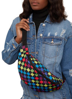 Canvas Checkered Fanny Pack - 1126067449142
