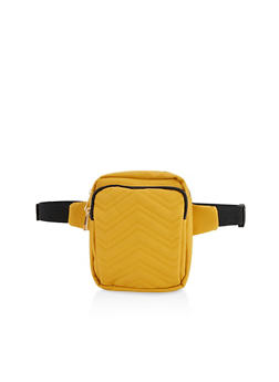Quilted Chevron Fanny Pack - 1126067449184