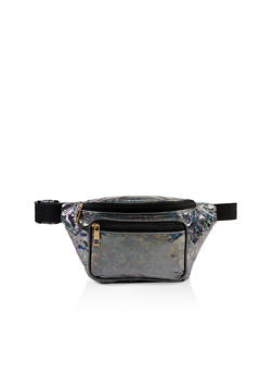 Double Zip Holographic Fanny Pack - 1126067449185