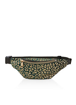 Glitter Leopard Fanny Pack - 1126067449189