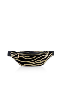 Glitter Zebra Stripe Fanny Pack - 1126067449190