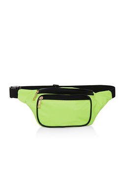 Solid Nylon Fanny Pack - LIME - 1126067449196