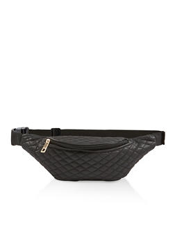 Quilted Faux Leather Fanny Pack - 1126067449199