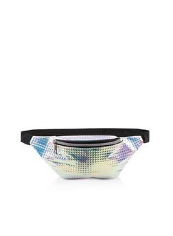 Holographic Prism Embossed Fanny Pack - 1126067449206