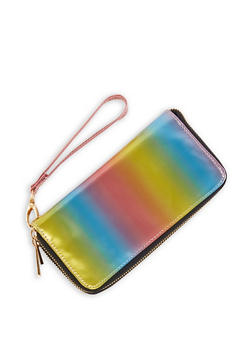 Multi Color Zip Wallet - 1126067449778