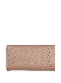 Faux Stitched Leather Wallet - 1126071211007