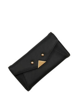 Faux Pearl Studded Wallet - 1126071211010