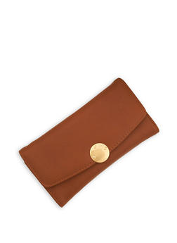 Pebble Textured Faux Leather Wallet - 1126071211021