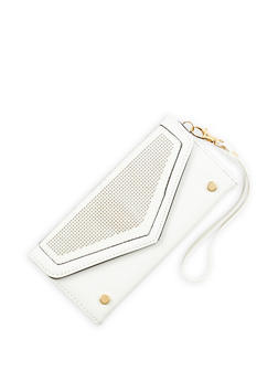 Faux Leather Laser Cut Envelope Wallet - 1126073401217