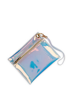 Clear Iridescent Zip Pouch - 1126073896625