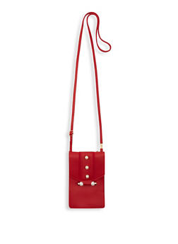 Faux Pearl Accent Crossbody Bag - 1126073896720