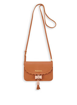 Mini Scalloped Edge Crossbody Bag - 1126073896726