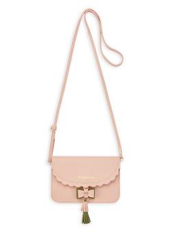Mini Scalloped Edge Crossbody Bag - 1126073896726