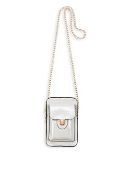Mini Faux Leather Chain Crossbody Bag - 1126073896823