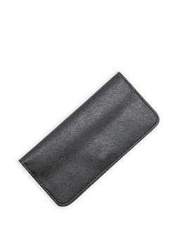 Textured Faux Leather Wallet - 1126074390310