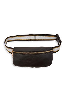 Striped Waistband Fanny Pack - 1126074391585