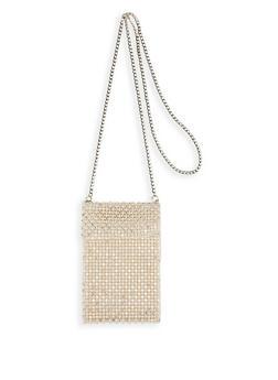 Faux Pearl Crossbody Bag - 1126074391995