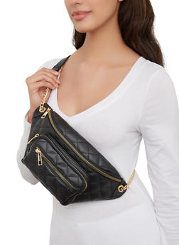 Quilted Double Zip Fanny Pack - 1126074392099