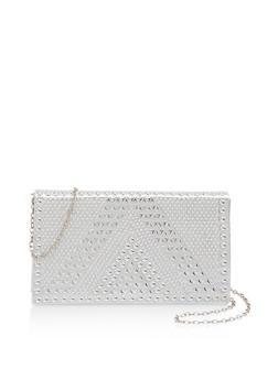 Studded Crossbody Clutch Bag - 1126074392286