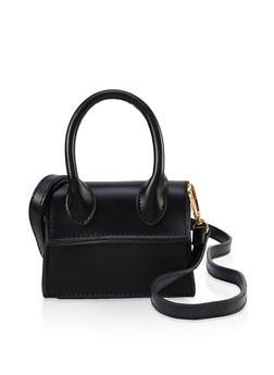Faux Leather Mini Crossbody Handbag - 1126074393790