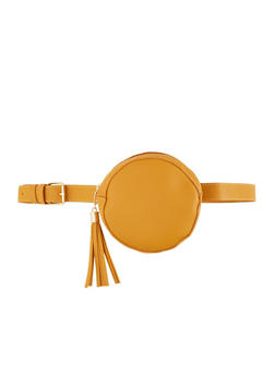 Round Faux Leather Belt Bag - 1126074399248