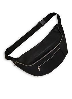 Oversized Double Zipper Fanny Pack - 1126074399503