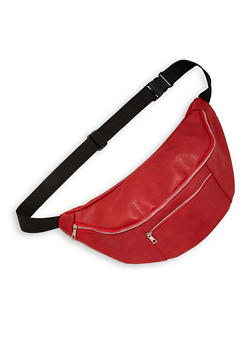 Oversized Double Zipper Fanny Pack - 1126074399503