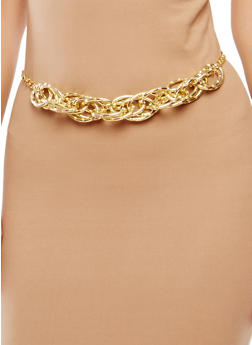 Metallic Multi Chain Link Belt - 1128018431717