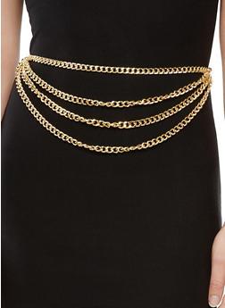 Layered Metallic Chain Belt - 1128018436512