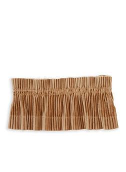 Pleated Velvet Waist Belt - 1128066921775