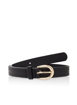 Embossed Faux Leather Belt - 1128073338015