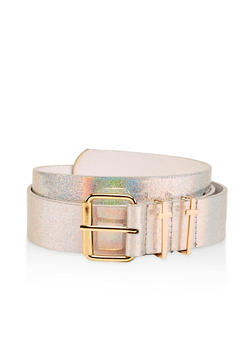 Plus Size Cross Loop Faux Leather Belt - 1128074390204