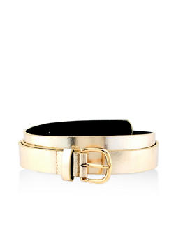 Plus Size Solid Skinny Belt - 1128074391604